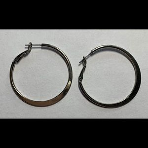 Silpada silver hoop earrings